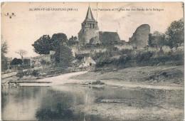 AINAY  Le  CHATEAU . 03 . La Sologne . Les Remparts . L'eglise (trace De Pli Au Milieu) - Autres Communes