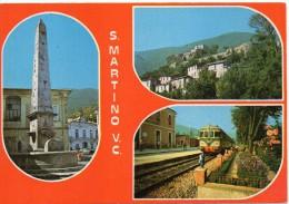 Campania-avellino-s.martino Valle Caudina Stazione Ferroviaria Veduta Treno In Transito Vedutine - Italia