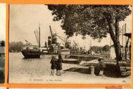 MND-21  Bayonne  La Gare Maritime, Bateau, ANIME. Non Circulé - Bayonne