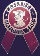 "03392 ""CAFFAREL - GIANDUIA 1865 - CIOCCOLATO GIANDUIA"" COCCARDA PUBBLICITARIA. - Cioccolato"