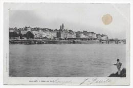 (RECTO / VERSO) MACON EN 1902 - QUAI DU SUD AVEC PECHEUR - BEAU CACHET - Macon