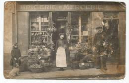 DIEPPE. CARTE PHOTO. Devanture De L´ épicerie Mercerie LEBEY, 17 Rue D´ Eu. - Dieppe