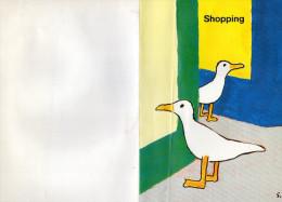 DESSIN  SAVIGNAC 1996 LES MOUETTES  Shopping à Trouville   L - Savignac