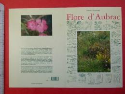 Calendrier 1993 Librairie La Maison Du Livre Rodez Aveyron 12 Livre Flore D´Aubrac De Francis Nouyrigat - Tamaño Pequeño : 1991-00