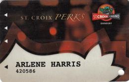 St Croix Casino - Perks card - Danbury - Wisconsin - USA