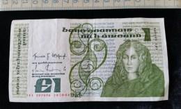 Billet De Un Pound ,197096,  24-10-84 , Irlande - Irlande