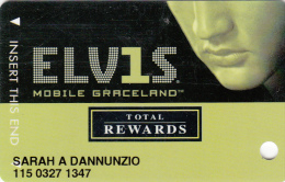 Harrah's Casino - Elvis Presley - Total Rewards - Multiple Locations - 2 scans USA