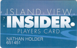 Island View Casino - Players card - Gulfport - Mississippi - USA