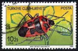 Turkey 1982 - 2611 O, Shield Bug (Eurydema Spectabile) | Harmful Insects - Used Stamps