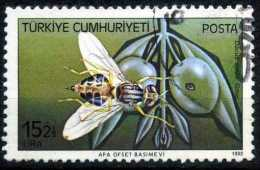 Turkey 1982 - 2612 O, The Olive Fruit Fly (Bactrocera Oleae, Dacus Oleae)   Harmful Insects - 1921-... Republiek