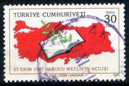 Turkey 1981 - Mi. 2582, Turkey Map, Book And Olive Branch - 1921-... Republiek