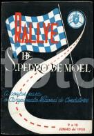 1958 RALLYE ARTE SPORT SAO PEDRO MOEL PORTUGAL CAR RACING REGULATION BOOKLET ALFA ROMEO GIULIETTA SPRINT AD MOCAR - Bücher, Zeitschriften, Comics