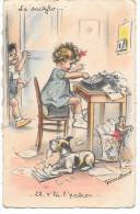 CPA N°2 GERMAINE BOURET- LA Dactylo, 22; V´ Là Patron - Bouret, Germaine