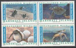 MARSHALL Is,1990 TURTLES BLOCK 4 MNH - Marshall Islands