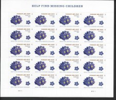 USA. Scott # 4987 MNH Sheet  Of 20. Missing Childen 2015 - Hojas Completas
