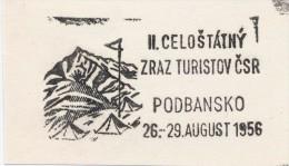 J1459 - Czechoslovakia (1945-79) Control imprint stamp machine (R!): II. statewide meeting tourists Czechoslovakia (SK)