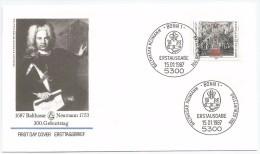 Allemagne RFA 1987 1139 FDC Architecte Neumann - Architecture
