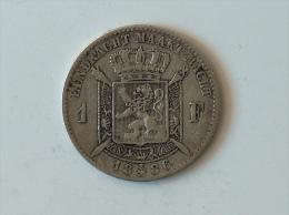 BELGIQUE 1 FRANC 1886 Argent Silver - 07. 1 Franc
