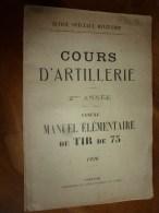1926 ECOLE SPÉCIALE MILITAIRE De SAINT-CYR .....COURS D'ARTILLERIE ...TIR De 75 Nombreux Dessins - Livres