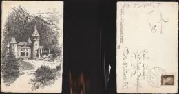 85) AOSTA GRESSONEY St. JEAN CASTEL SAVOIA  VIAGGIATA 1941 - Italia