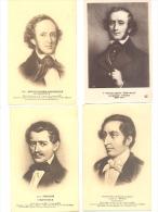 Lot De 7 CP - Compositeur  - Bach, Mozart, Wéber, Wagner, Strauss Et Mendelssohn - Musique - Cantanti E Musicisti