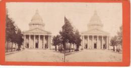 Vieille Photo Stereoscopique De Paris Le Pantheon Vers 1880 - Krieg, Militär