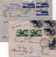 ITALIA  Storia Postale  Colonie  Eritrea  Lotto 2 Lettere - Italia
