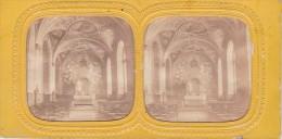 Vieille Photo Stereoscopique Pour Visionneuse La Chapelle Du Luxembourg Rehaussé En Couleur - Stereo-Photographie