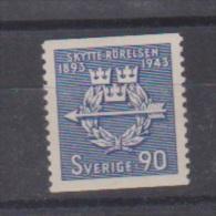 SUEDE  //  N 302    //  90 Ore Bleu  //  NEUF **  //  Côte  7€ - Suède