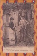 1 Cpa Au Pays Landais Couple De Resiniers - France