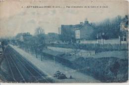 CPA 95 AUVERS SUR OISE Vue De La Gare Du Chemin De Fer Le Quai 1934 - Auvers Sur Oise