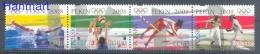 Poland 2008 Mi Vie4368-4371 MNH - Olympics 2008 Beijing, Swimming, Volleyball, Fencing, Athletics - Summer 2008: Beijing