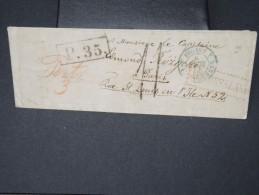 RUSSIE- Enveloppe Pour La France  A Voir Nombreux Cachets   1858     Pas Courant LOT P5129 - 1857-1916 Empire
