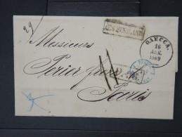 RUSSIE- Lettre ( Avec Texte) De Odessa  Pour La France En 1869     A Voir  LOT P5131 - 1857-1916 Empire