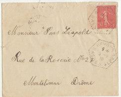 ESC 50c Semeuse O. RAR Bevons Basses Alpes 1930 - Postmark Collection (Covers)