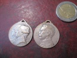 2* MEDAILLONS - 1= WASHINGTON LAFAYETTE PARIS 1917- 1=GALLIENI JUSQU´AU BOUT PARIS  1914- 1916  - - VOIR PHOTOS - Frankreich