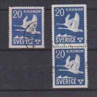 SUEDE  // Poste Aérienne //   N  7 Et 7b  //  20 Kronor  Outremer   //
