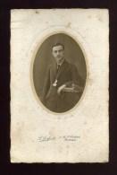 - PORTRAIT D' HOMME 3/4 FACE  . L. LAFONT BORDEAUX . ANNOTE AU DOS 1921 . - Anonyme Personen