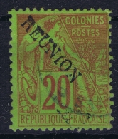 Reunion: Yv Nr 23 Used Obl   Signed/ Signé/signiert/ Approvato - Reunion Island (1852-1975)