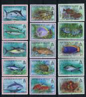 GB Ascension Island: 1991 Mi Nr 558 - 572 MNH/** Fish - Ascension