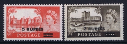 Oman British Postal Agencies , 1955 SG. 56 - 57 , Mi 56 - 57 MNH/** - Oman