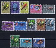 Tristan Da Cunha 1963 SG 55- 67  Mi Nr 55 - 67 MNH/**   Animals - Tristan Da Cunha