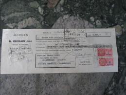 Begles Gironde Mr H Germain Jeune  Morues  1957 - Alimentare