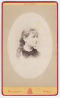 Photographie Ancienne, CDV, Carte De Visite, Melandri (Paris, France), Portrait Femme, Costume, Mode - Photographs