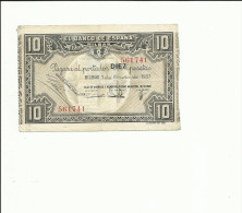 BILLETE 10 PESETAS 1937  BILBAO - [ 2] 1931-1936 : Republic