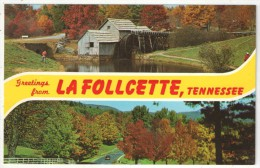 Greetings From LA FOLLCETTE, Tennessee - Etats-Unis