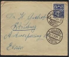 LETTONIE - JELGAWA - MITAU / 1924 LETTRE POUR STRASBOURG (ref 6338) - Latvia