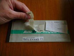 CB6 LC114 Billet ticket Air Afrique 1978 - publicit� banque soci�t� g�n�rale au verso