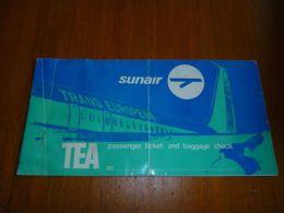 CB6 LC114 Billet ticket Sunair TEA