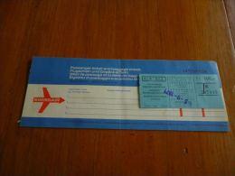 CB6 LC114 Billet ticket Swissair Airlines Kinshasa Zurich Brussels Kinshasa